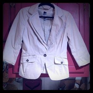 White House Black Market Ivory Jacket